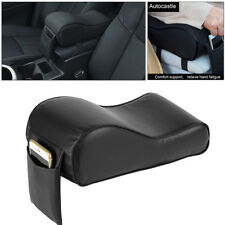 11.8×5.9'' Car SUV PU Memory Foam Console Armrest Box Cushion Pad Mat Black Set