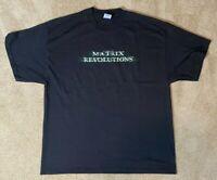 The Matrix Revolutions Movie Promo T-shirt - Black Mens XL 2003