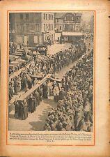 Croix procession des Reliques de Sainte-Thérèse de Lisieux 1932 ILLUSTRATION