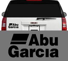 Abu Garcia Fishing Reels & Rods Outdoors Vinyl Decal Sticker Black 8 inch