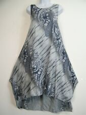 LagenLook 100% Cotton Sleeveless Summer Dress 11 colours One Size: Regular 12-16