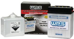 WPS Conventional 6V Standard Battery with Acid Pack 6N11-2D