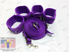 Purple BDSM Sex Restraints Under Bed Cuffs Set Sexual Adult Straps System Toy