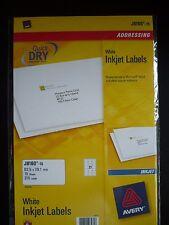 AVERY QUICKDRY Inkjet Label J8160 -15 /** 315 LABELS** BRAND NEW / SEALED