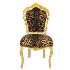 CHAIRS FRANCE BAROQUE STYLE DINING ROYAL CHAIR GOLD / PANTHER #60ST5