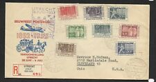 Netherlands Scott #332-#339 on First Day Cover, 6-28-1952, Centenary of Postal