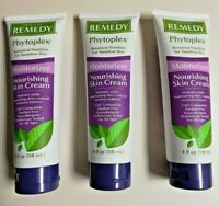 Remedy Phytoplex Moisturizer Nourishing Skin Cream 4 oz Tube Snap Caps Lot of 3