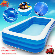 Inflatable Swimming Pool Outdoor Backyard Inflated Water Tubs for Kids Family