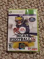 NCAA Football 14 for Xbox 360 Fanatics Edition Complete in Box *Tested and Work*