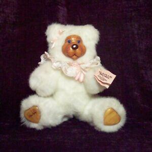 Robert Raikes Bear SHOPIE Brown White and Pink