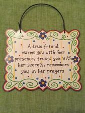 """Lovely Natural Life """"True Friend� Metal Wall Plaque"""