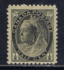 Canada #74(1) 1898 1/2 cent black Queen Victoria NUMERAL ISSUE MNH CV$80.00