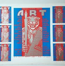 RICK GRIFFIN STANLEY MOUSE KELLEY ART POSTER 86 UNCUT HANDBILL TIGER PSYCH PRINT