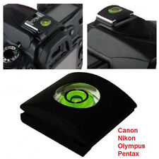 Hot Shoe Protector Cap Camera Cover Flash Bubble Spirit Level for Canon Nikon 2X