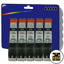 5 Black C526 Inks for Canon MG5150 MG5250 MG5350 MG6150 iP4850 iX6550 non-OEM
