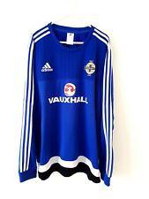 Northern Ireland Training Jumper. XL. Adidas. Blue Adults Football Top Kit.