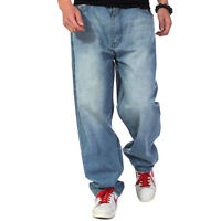 Plus Size Men's Jeans Relaxed Fit Baggy Denim Pants Casual Big & Tal Waist 30-46
