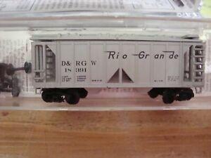 N Scale MTL D&RGW Denver & Rio Grande Western 2 bay Centerflow hopper NEW!