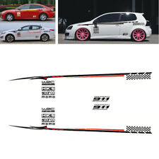 Pair Car Whole Body Bumper BK Material Vinyl Sticker Decoration Decal Waterproof