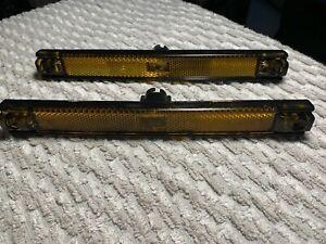 1985 Pontiac Fiero OEM R & L front side marker lenses lights