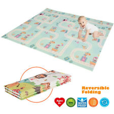 Foldable Play Mat – Large Tummy Time Folding Reversible Baby Mats For Toddler