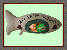 Memorial Photo Pillow Fish Shape Childrens Loss of Pet Picture Frame Cat Fish
