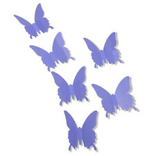 Fashion Purple 3D DIY Lovely Butterfly Room Decoration Wall Stickers 12pcs New