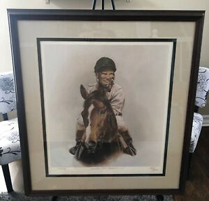 Exceller Bill Shoemaker Up Fred Stone Limited Edition Print (479/500) Signed