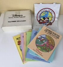 Walt Disney's Small World Library Lot Of 7 Books And Canvas Bag, 10 x 12 Inch