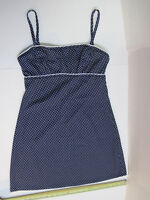 Jantzen Size Small Blue Swim Beach Polkadot Dress Style CA00158 S Polyester cute