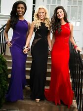 $338 BLACK NIGHT MOVES BY MADISON JAMES PROM/PAGEANT/FORMAL DRESS/GOWN #CB51 14
