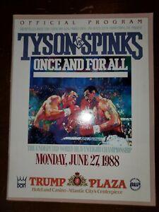 Official Program Tyson vs Spinks Trump Plaza 1988