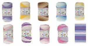 Alize Sekerim Bebe Double Knitting Baby 100g Multicoloured 17 Colours