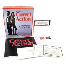 """Sid Meier's Covert Action for PC 3.5"""" / 5.25"""" in Big Box by MicroProse, 1990"""