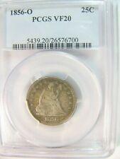 1856-O Seated Liberty Quarter Arrows PCGS VF 20 Cert# 26576700