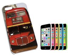 COVER CASE FLIP COMPATIBILE IPHONE 5 LONDON BUS COLORE NERO GRIGIO ROSSO