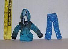 New GENUINE MATTEL BOY MALE MONSTER HIGH DOLLS BLUE 2 PIECE CLOTHES SET
