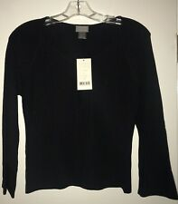 New Sigrid Olsen Petite Small Black Sweater