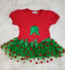 Spunky Kids Baby Girls Size 18-24M Christmas Tree Dress Red & Green Tulle M