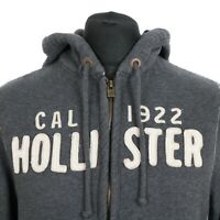 Vintage HOLLISTER Full Zip Hoodie | Men's L | Hooded Sweatshirt Jacket Retro