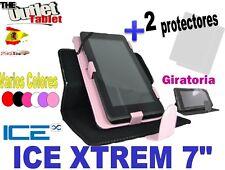 """FUNDA TABLET XTREM 7"""" UNIVERSAL función stand y giratoria + 2 Protectores"""