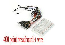 New 400 Tie points Phototype Breadboard + 65pcs jumper wire cable