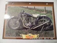 CARTE FICHE MOTO GILLET HERSTAL 500 OHV SPORT   1929