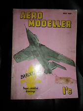 Aero Modeller May 1959 BAROUDEUR Super Detailed Drawings +Illustrated+Advertisin