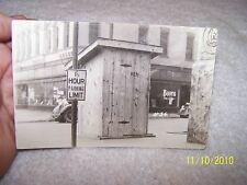 Real Photo Card 1937 Ohio River Flood Postcard RPPC Evansville IN Men's Toilet