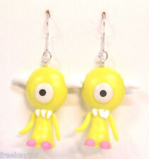 "Harajuku Japan The Gooli Monsters Yellow Koz Mini Art Toys 2"" Dangle Earrings"