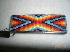 Native American Sterling Silver & Beaded Barrette                           #302