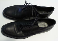 HUGO BOSS Black Leather Oxford Lace Up  Made in Italy Mens Size 9.5 Classic