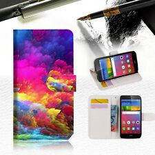 Colorful Cloud Wallet Case Cover For Huawei Ascend GR5 2017-- A021