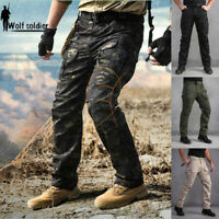 Mens Cargo Patns Military Tactical Army Combat Waterproof Hiking Casual Trousers